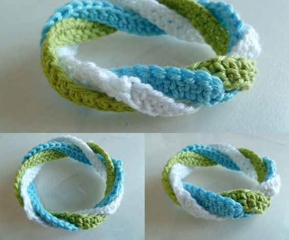 Infinite circles crochet bracelet: FREE tutorial