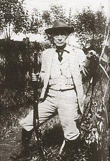Tokugawa Yoshinobu(1837-1913, 15th and last Tokugawa shogun, shown hunting in his later years.