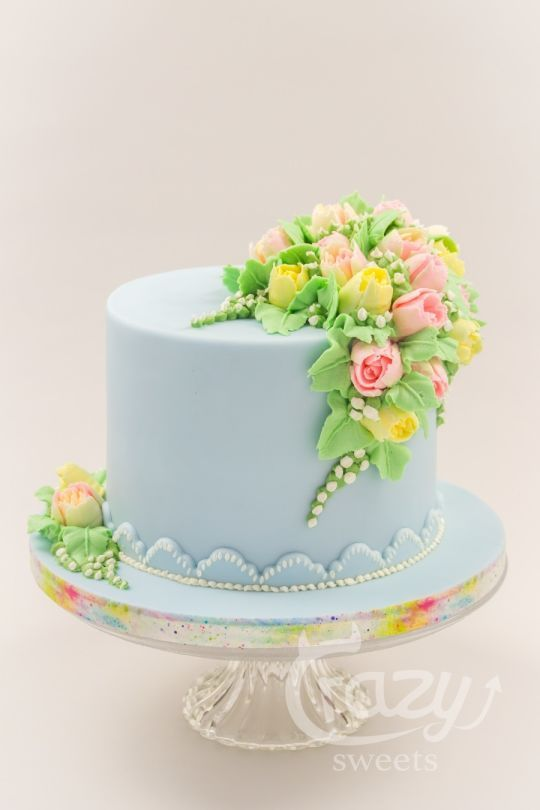 Cake Art Flowers : Buttercream spring flowers cake Love cakes ! Pinterest ...