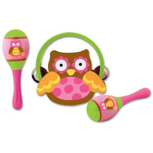 Stephen Joseph Percussion Set, Owl by Stephen Joseph. $16.97. From the Manufacturer                Wooden percussion set includes one tambourine and two maracas. Small size fits little hands perfectly.                                    Product Description                Stephen Joseph Percussion Set, Owl. Included Maracas Set and Tambourine.. Save 15%!