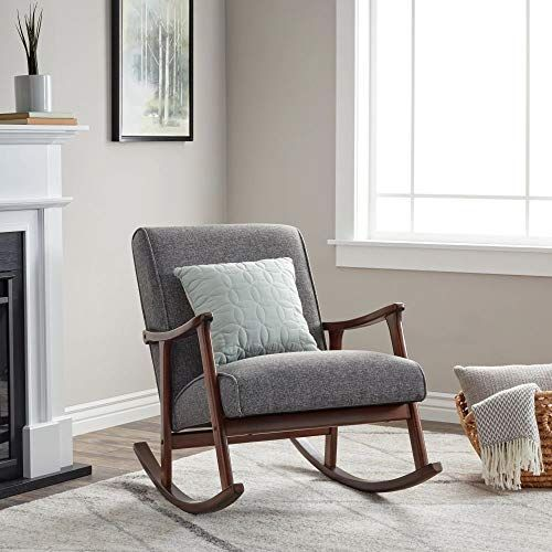 Chic Wooden Rocking Chair Provides Elegant Style And Function