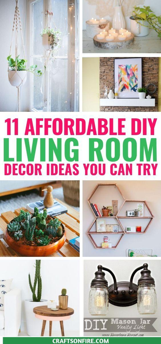 Super Affordable Diy Living Room Decor Ideas Craftsonfire Cheap Home Decor Easy Diy Decor Cheap Diy Home Decor