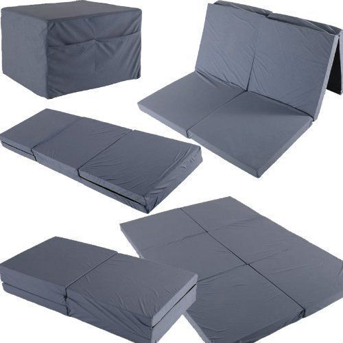 Fold Out Guest Mattress Foam Bed Single Double Sizes Futon Z Folding Sofa Tiny Houses And Bedrooms