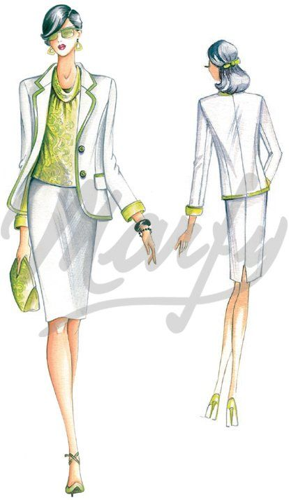 Model 2108 | Sewing Pattern Jackets / Shrugs