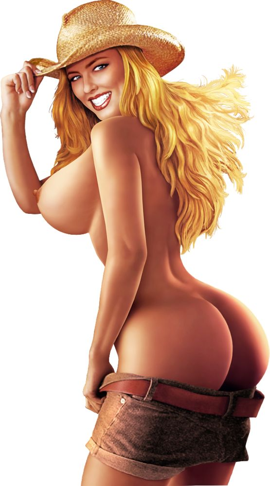 cartoons nude cowgirl