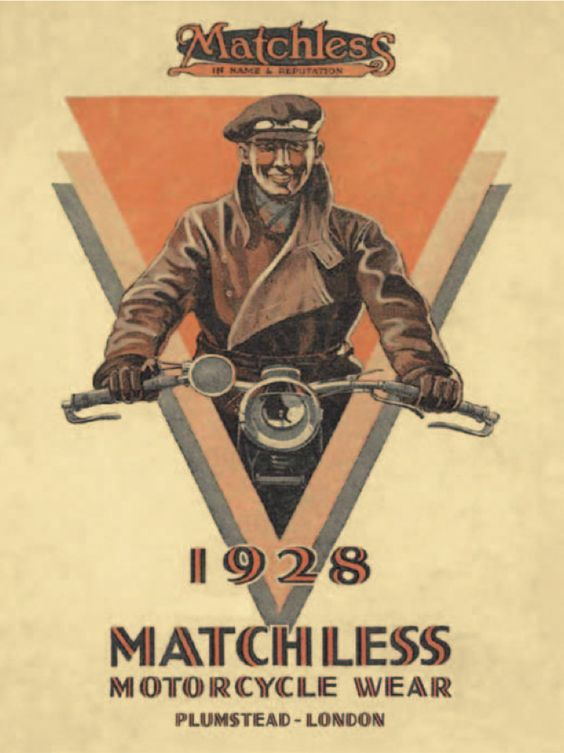 Matchless motorcycle wear for 1928
