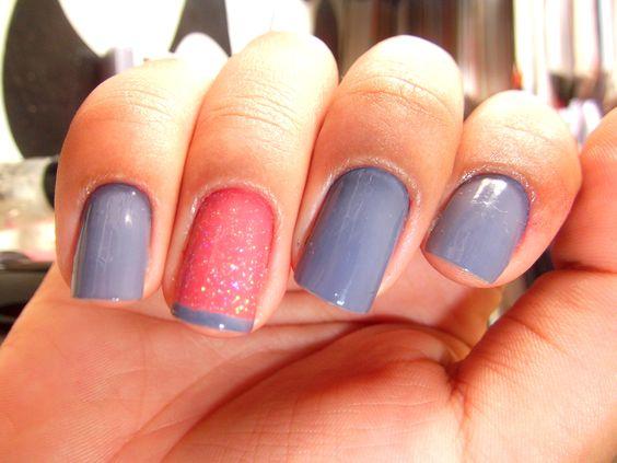 unhas francesinhas coloridas - Pesquisa Google