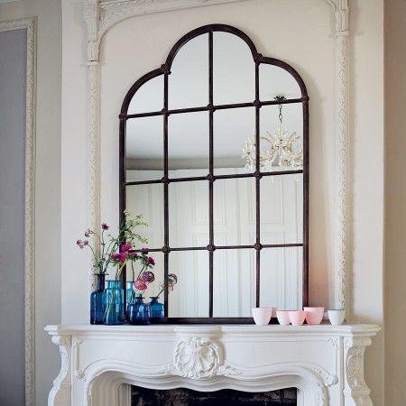 Love this lattice window mirror... so much. #decor