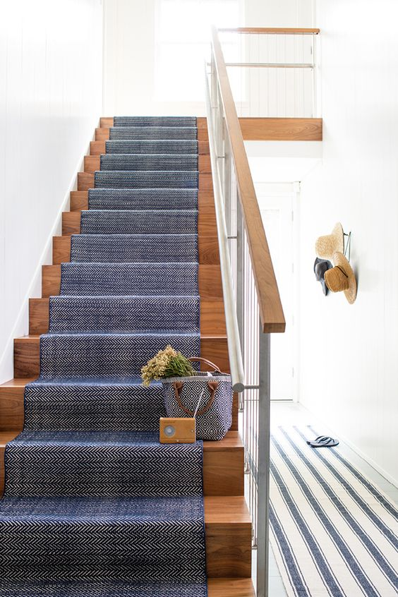 A customer favorite Dash & Albert lightweight woven cotton area rug in a classic Indigo blue herringbone pattern will perk up your floors.:
