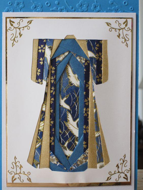 Kimono iris folding: