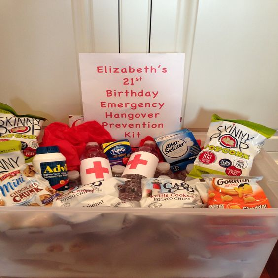 Fun 21st Birthday Idea For Guests At End Of Party