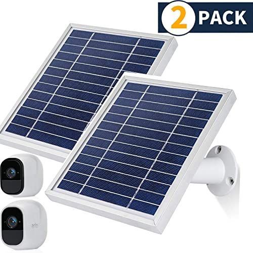 New Itodos Solar Panel Compatible Arlo Pro Arlo Pro 2 11 8ft Outdoor Power Charging Cable Adjustable Mount Not Arlo Ultra Arlo Pro3 2 Pack Silver Onlin In 2020 Outdoor Light Fixtures Solar