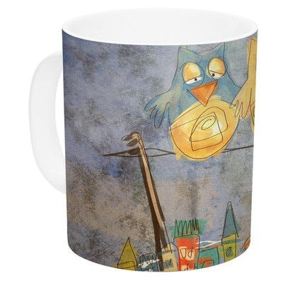 KESS InHouse Lechuzas by Carina Povarchik 11 oz. Ceramic Coffee Mug