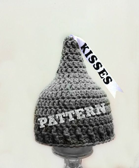 Free Crochet Pattern For Hershey Kiss Hat : PATTERN: Baby Hershey Kiss Hat Newborn photo props, Hats ...