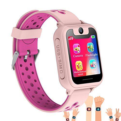 Synmila Kids Smart Watch Gps Tracker Touch Screen Wrist Watch Phone With Sim For Boys Girls With Camera Fi Fitness Tracker Bracelet Smart Watch Wearable Phone