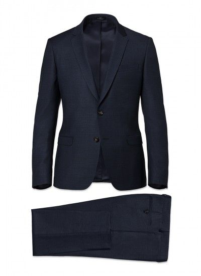 Costume slim fit - Laine Super 150's AAAAA - Bleu - Prince de Galles