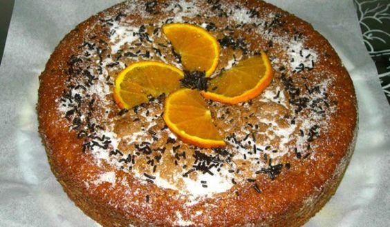 Bizcocho de naranja y pasas