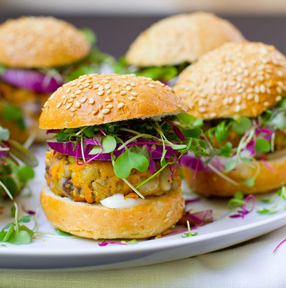 Black Eyed Sweet Potato Sliders by Healthy Happy Life