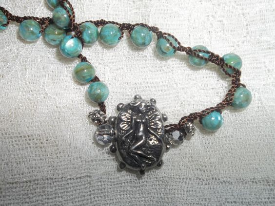 Hand Made Fairy Necklace...Bohemian Art by vintagelinentreasure, $24.99