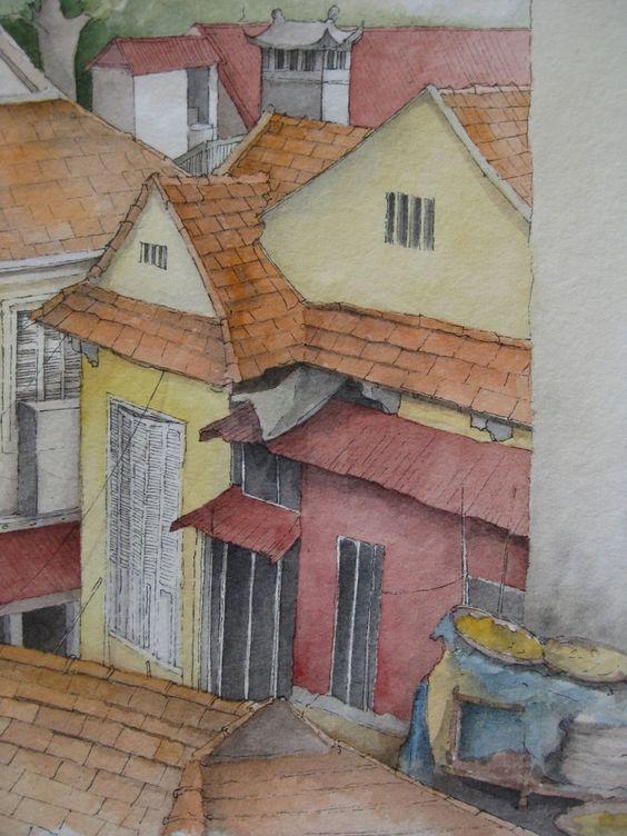 Les toits de Hanoi