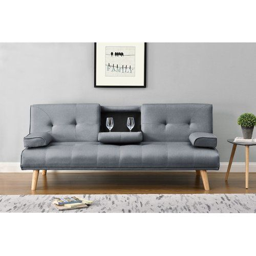 Abernethy 3 Seater Sofa Bed Mercury Row Upholstery Charcoal 3 Seater Sofa Bed Single Sofa Bed Sofa Bed Wayfair
