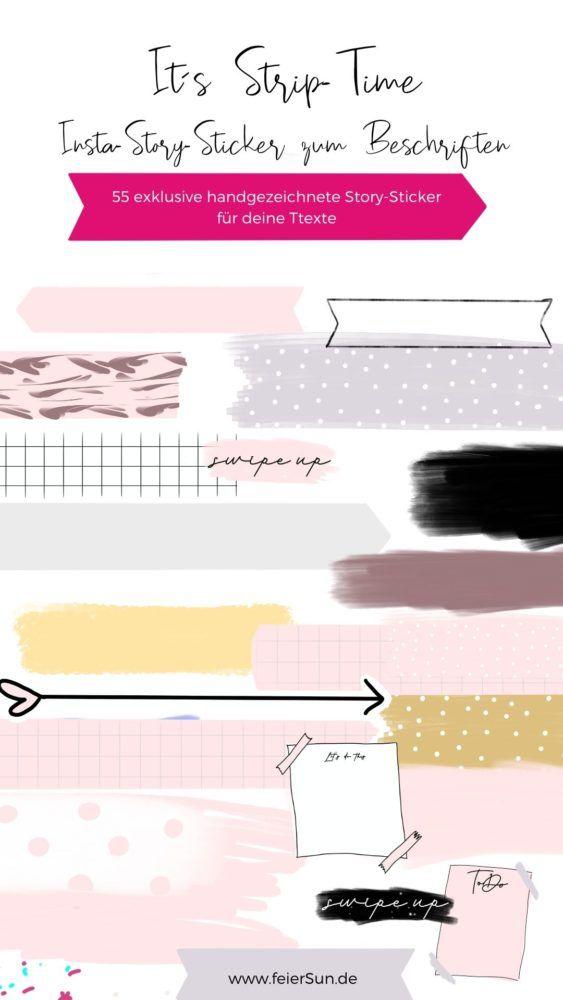 Strip Time Insta Story Sticker Zum Beschriften Feiersun De Sticker Kostenlos Instagram Tipps Banner Ideen
