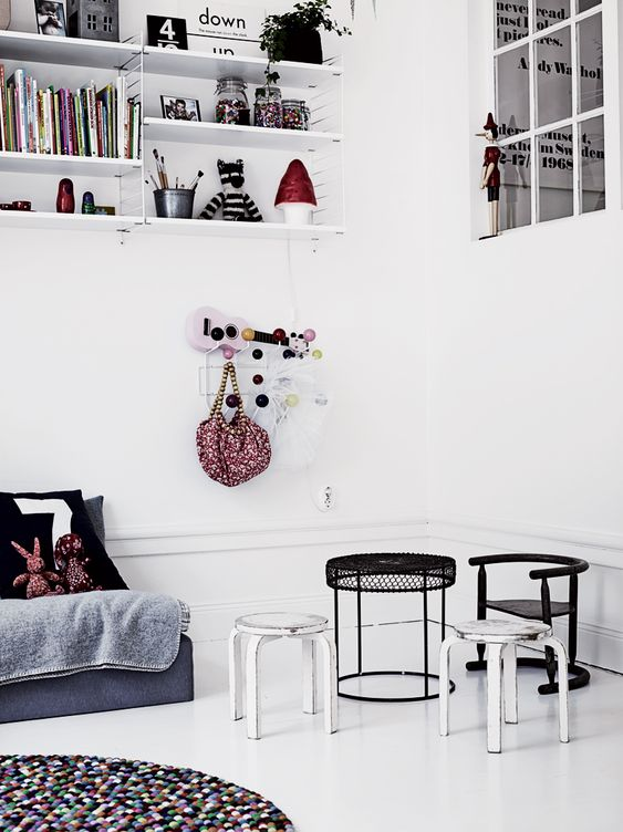 blacka&white children's room Photographer: Pia Ulin, for Elle Interiör Sweden