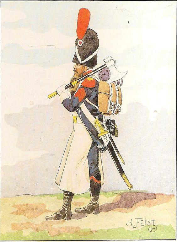 French; 17th Light Infantry, Sapper, Grande Tenue.