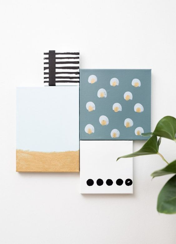 DIY Homemade Art // Join the canvases together with glue