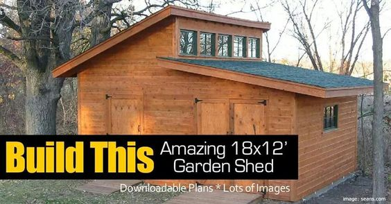 GARDEN SHEDS 18X12 FOOT DOWNLOADABLE PLANS