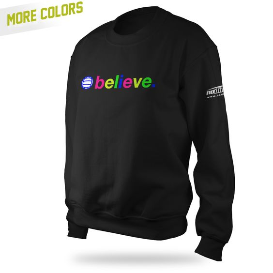 Believe Crewneck - Black - $38.95