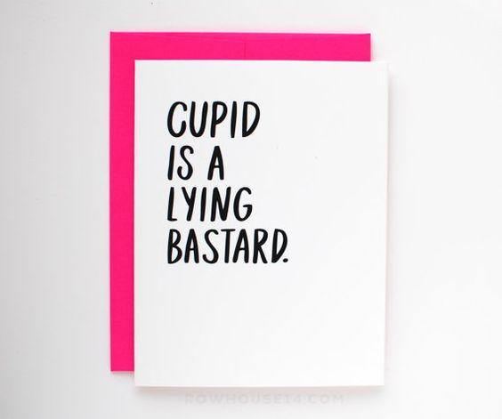Funny Valentine Card  Anti-Valentine Card  Singles by RowHouse14