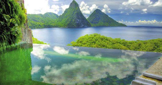 Las mejores piscinas del mundo Hotel Jade Mountain | Blog Camisas Rushmore
