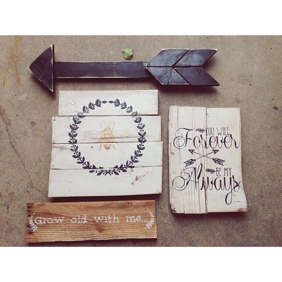 Dropped these babies off at [a little flower] floral shop in centerville!! Go check them out! #alittleflower #floralshop #signs #shabby #shabbychic #handmade #centerville #utah #wedding #love #pallet #palletsigns #wood #Padgram