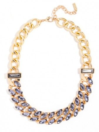 classic curb links with an added touch of crystal