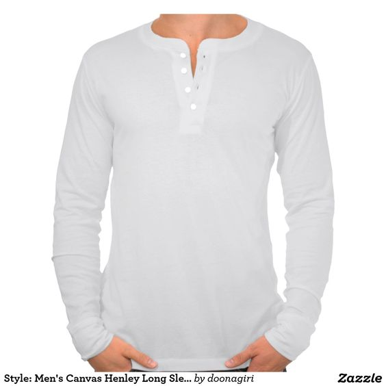 Style: Men's Canvas Henley Long Sleeve Shirt