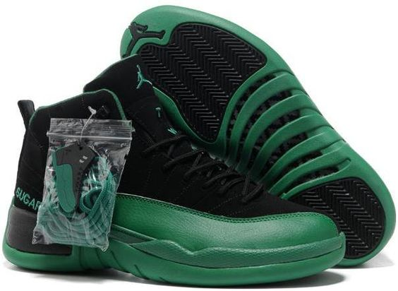 Nike Air Jordan 12 XII Men Shoes in Green and Black with Nice Box