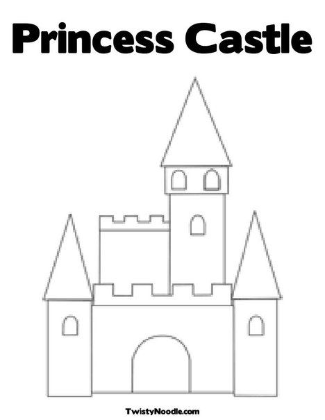 Coloring princesses and google on pinterest for Princess and castle coloring pages