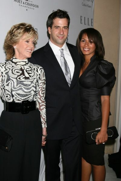 Jane Fonda with son Troy Garity and his wife Simone Bent ...