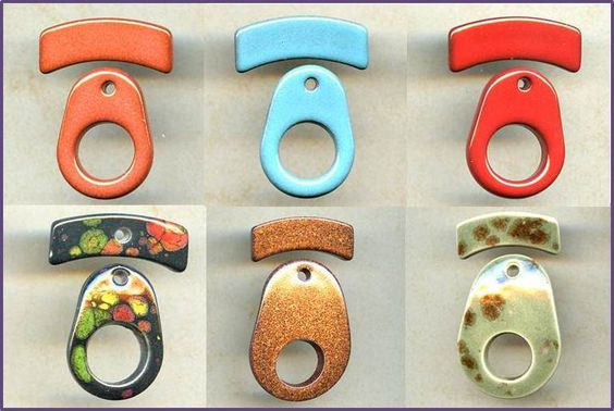 Clay River Toggles @ antelopebeads.com