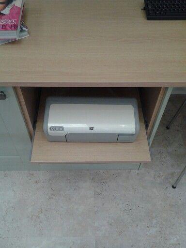 Slide out printer unit