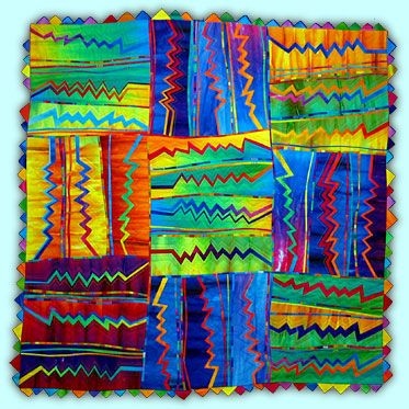 Zig Zag #5 by Melody Johnson.  So vibrant and full of energy.: