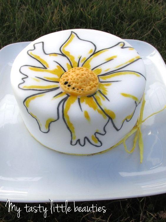 Sommerlicher Margeriten-Kuchen