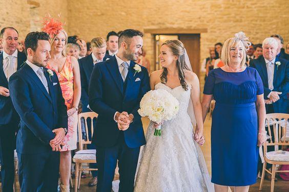 Kingscote Barn Wedding Photography - Bridal Entrance