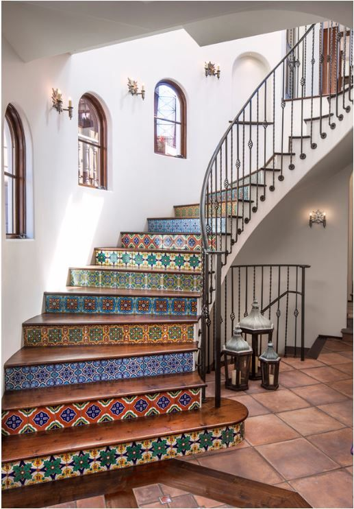 easy modern stairs design indoor. Tiled risers never get old  Staircases Centsational Girl staircase