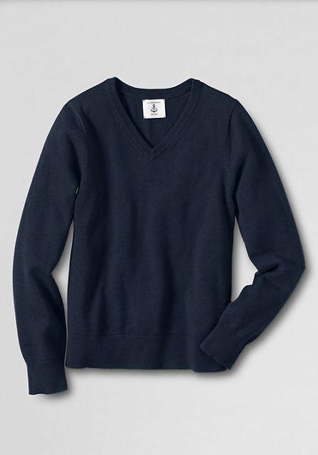 School Uniform Boys' Performance Fine Gauge V-neck Sweater BOYS