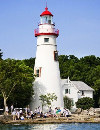 #ridecolorfully to the oldest U.S. lighthouse on the Great Lakes. Tour this open to public lighthouse as you ride around Marblehead, Ohio on your Vespa!!