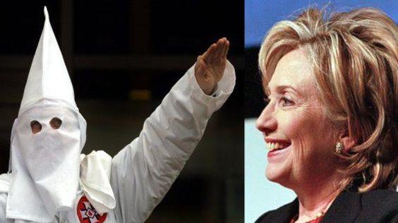 KKK Grand Dragon Endorses Hillary Clinton.  And she says Trump is racist?