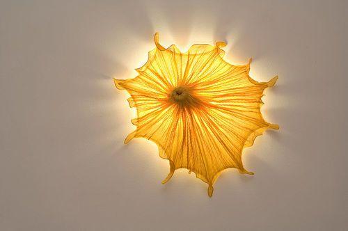 Wandleuchte / originelles Design / Seiden MORNING GLORY: MEDUSA Aqua Creations