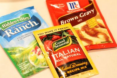 3 Packet Roast (Ranch mix, Italian dressing mix, Brown Gravy mix)